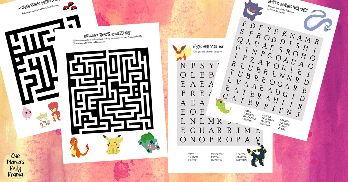 graphic about Pokemon Word Search Printable known as Printable Pokémon Puzzles for Young children Maze and Phrase Glimpse