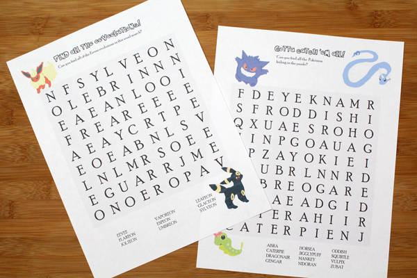 graphic about Pokemon Word Search Printable named Printable Pokémon Puzzles for Young children Maze and Phrase Look