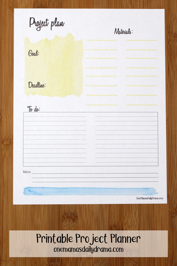 picture about Printable Project Planner referred to as Printable Task Planner Printable Planner Inserts
