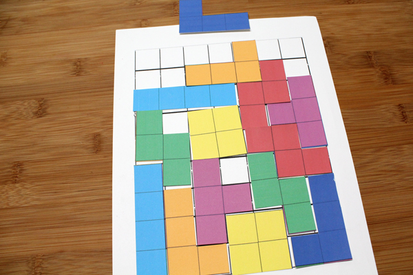 a full Tetris game board