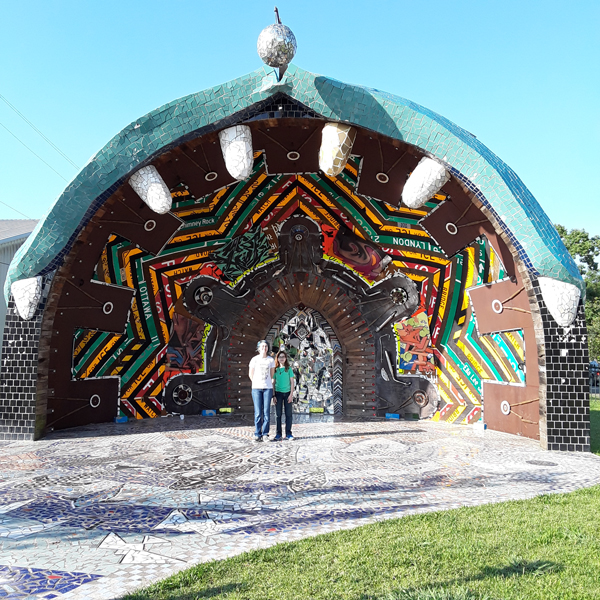 mosaic artwork at Smither Park