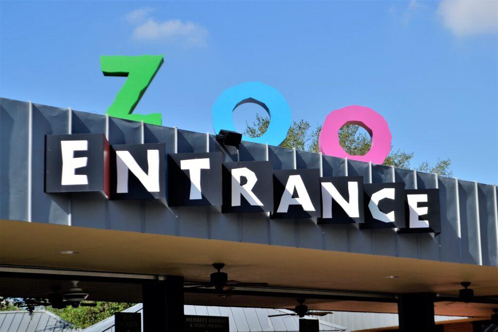 Houston Zoo entrance sign