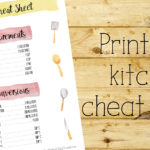 Free printable kitchen cheat sheet