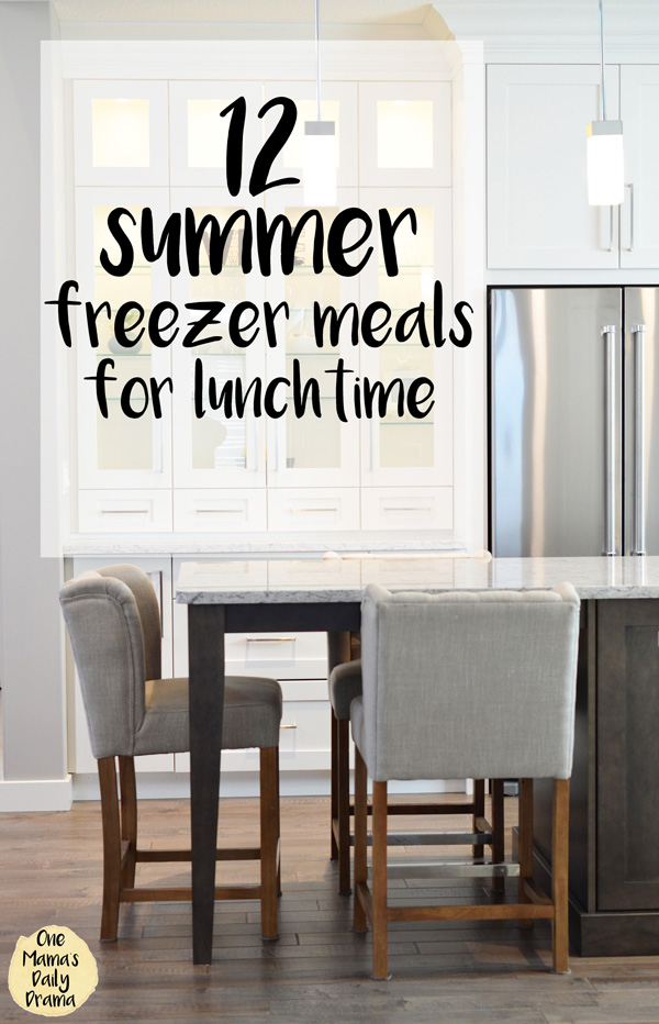 12 summer freezer meals for lunchtime | Make ahead lunch ideas to feed the kids in the summer