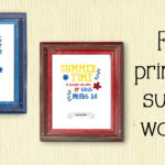 Printable summer wall art quotes {free download}