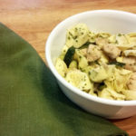 Chicken zucchini pesto tortellini