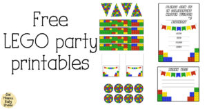 LEGO party printables from One Mama's Daily Drama
