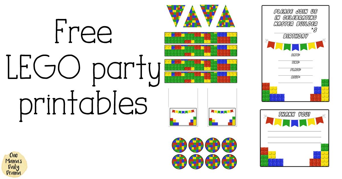 picture about Lego Party Printable named Absolutely free LEGO get together printables for little ones birthdays