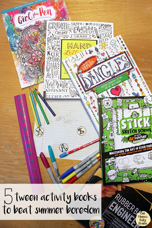 5 tween activity books to beat summer boredom