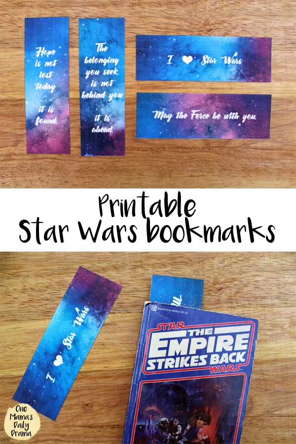 photograph regarding Free Printable Bookmarks With Quotes identified as Printable Star Wars bookmarks with rates