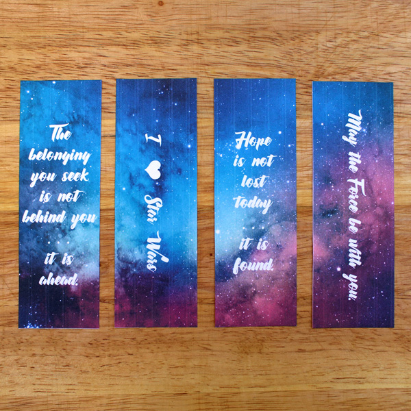 graphic regarding Free Printable Bookmarks With Quotes known as Printable Star Wars bookmarks with offers