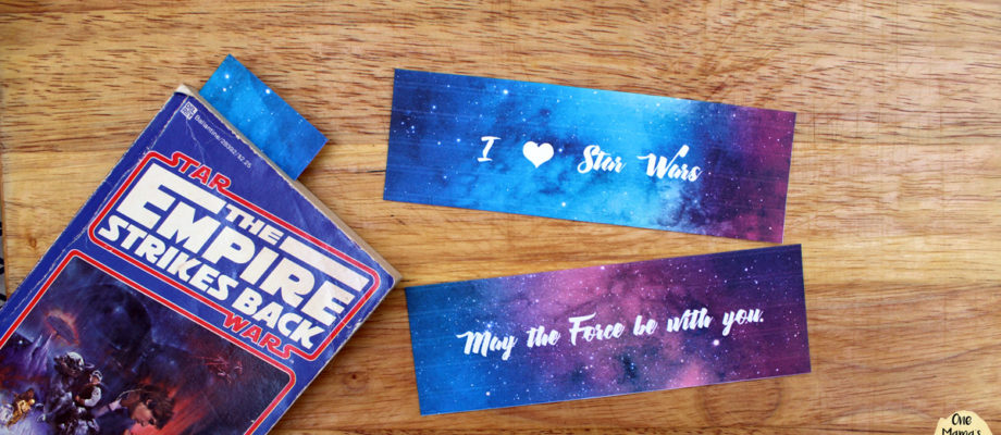 """Printable Star Wars bookmarks with quotes from """"The Force Awakens"""""""