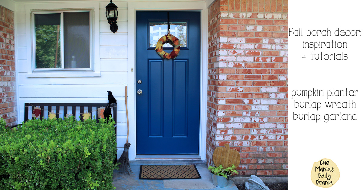 Fall porch decor inspiration + tutorials