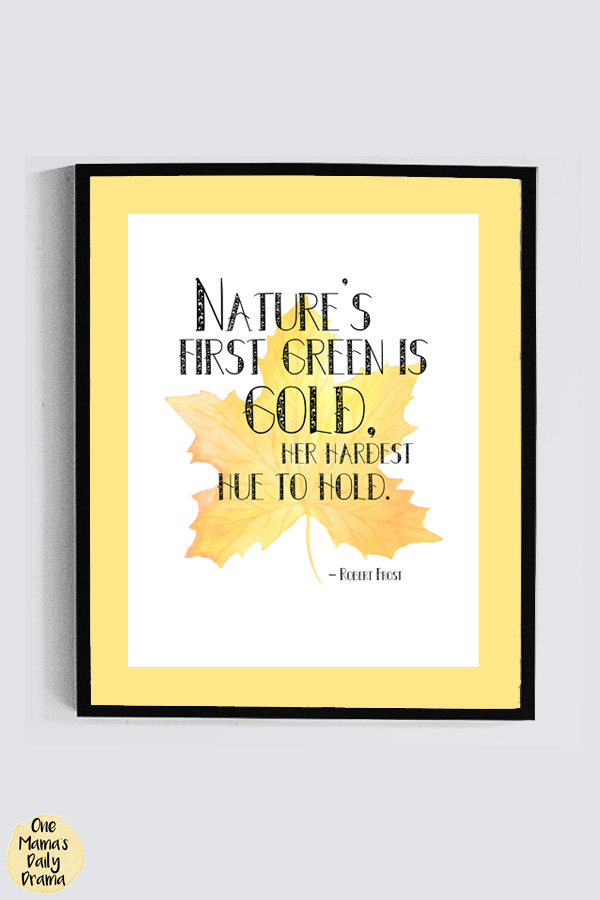 """""""Nature's first green is gold, her hardest hue to hold."""""""