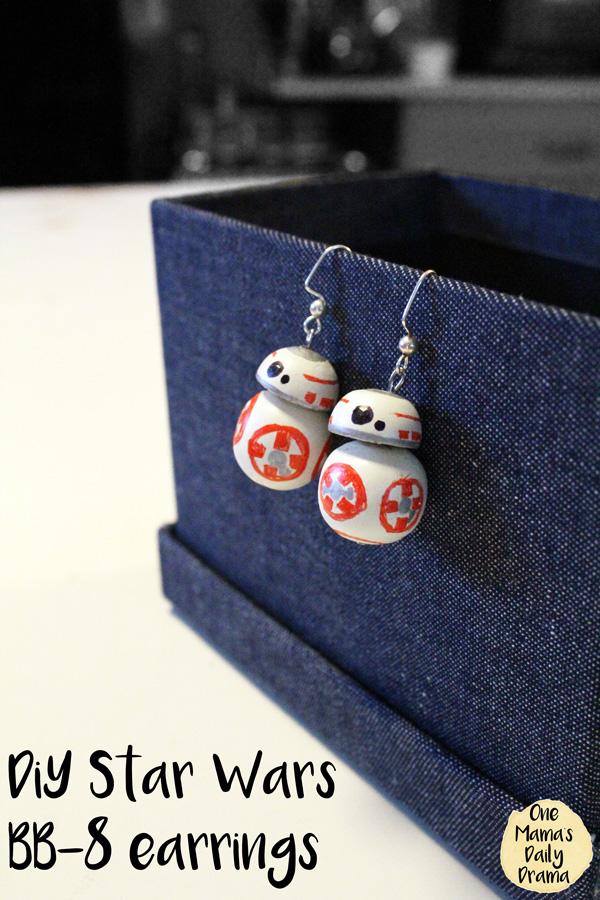 DiY Star Wars BB-8 earrings tutorial