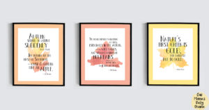 Free printable autumn wall art quotes | JK Rowling, JRR Tolkien, Robert Frost