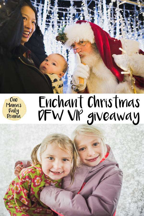 Enter to win an Enchant Christmas VIP family 4-pack of tickets from One Mama's Daily Drama
