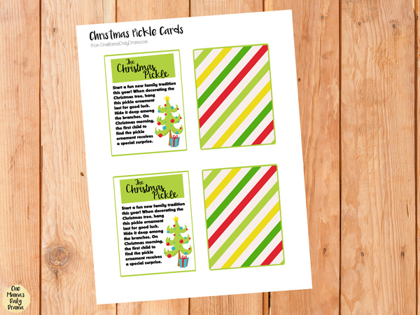 image relating to Christmas Pickle Story Printable identified as 5 Xmas present strategies with totally free printables