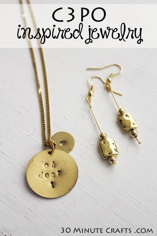 C3PO inspired jewelry from 30 Minute Crafts