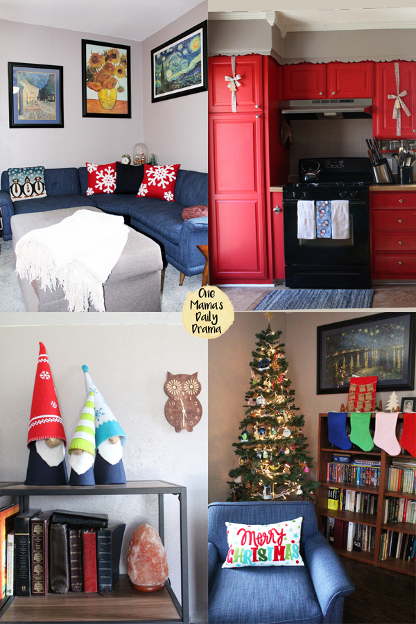 Merry and bright Christmas home decor / One Mama's Daily Drama