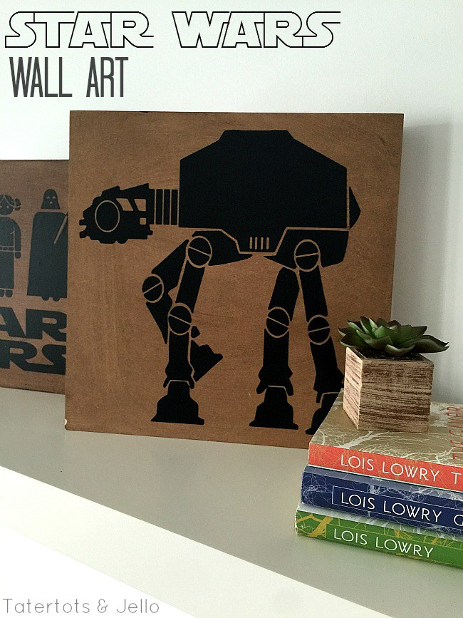 Star Wars wall art from Tatertots and Jello