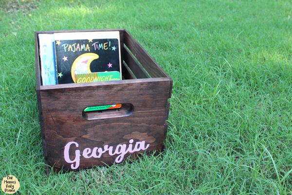 DiY book box baby shower gift idea