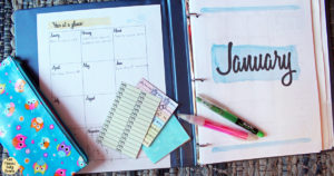 How to set up your planner for success / tips for using a planner to organize your schedule