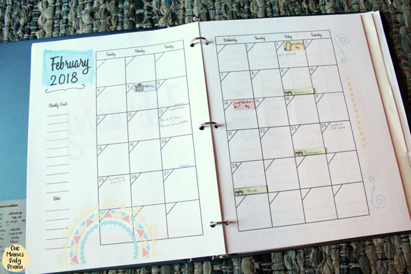 Planner tip: your planner can double as a journal when you write down activities after they've happened.