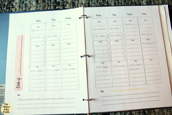 Planner tip: leave margin for unexpected changes and breaks.