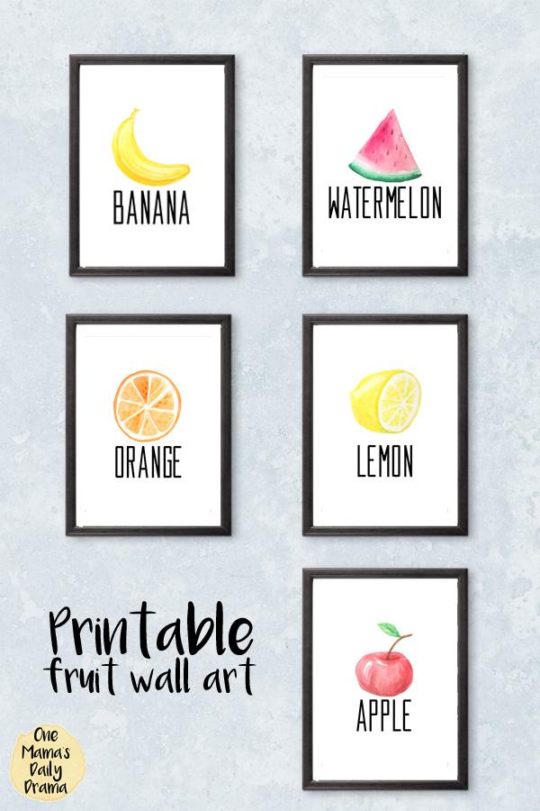 Printable fruit wall art / Keri Houchin Design