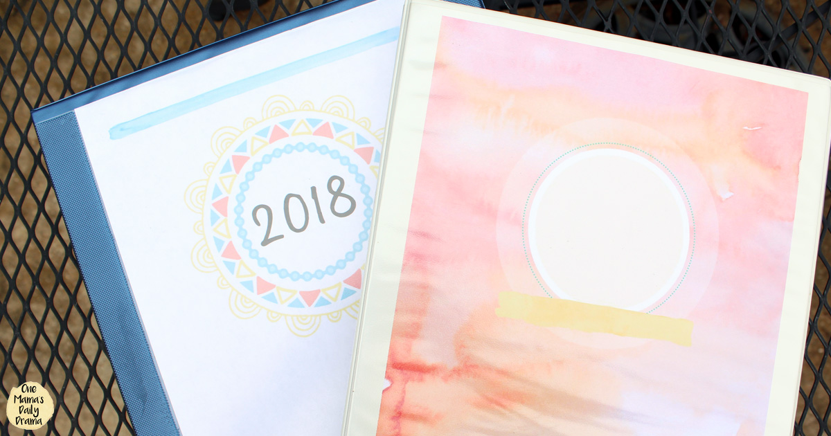 How to set up a household binder with printables from One Mama's Daily Drama