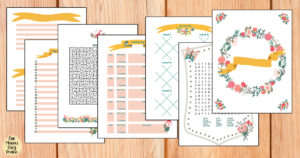 Printable spring activity book with drawing, writing, and games for tweens and teens