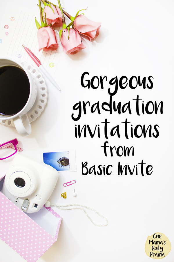Gorgeous graduation invitations from Basic Invite