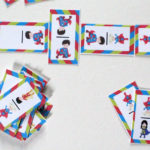 Printable superhero dominoes game