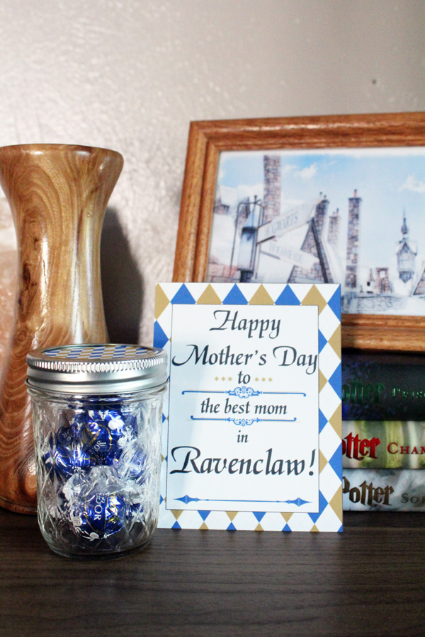 Ravenclaw Hogwarts Mother's Day card and candy