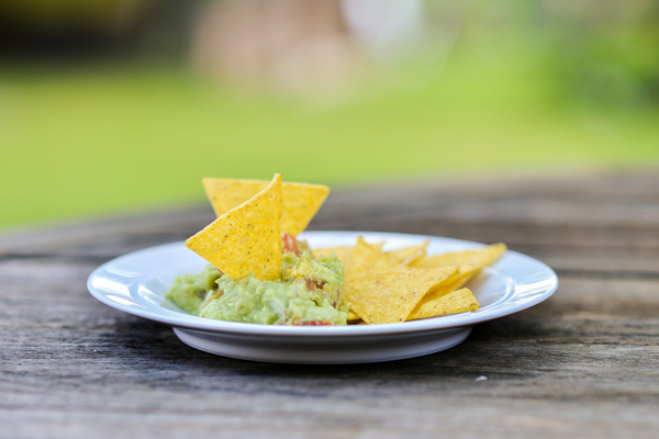 dish of guacamole