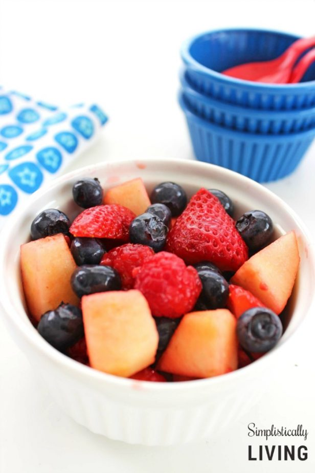 Patriotic fruit salad from Simplistically Living