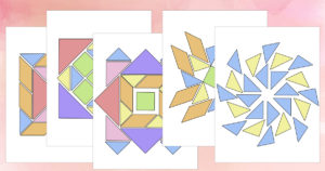 tangrams mandala puzzle pages