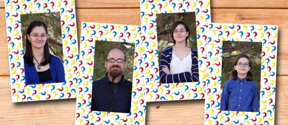 DiY Guess Who family photos