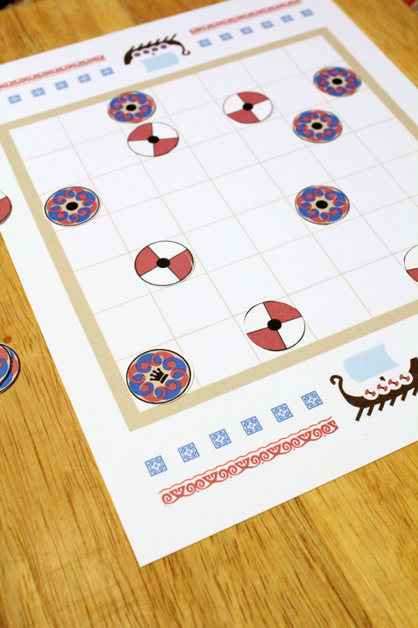 "Tafl game board with the king ""safe"" in the corner"
