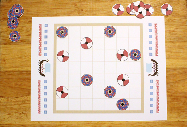 Tafl board game bird's eye view