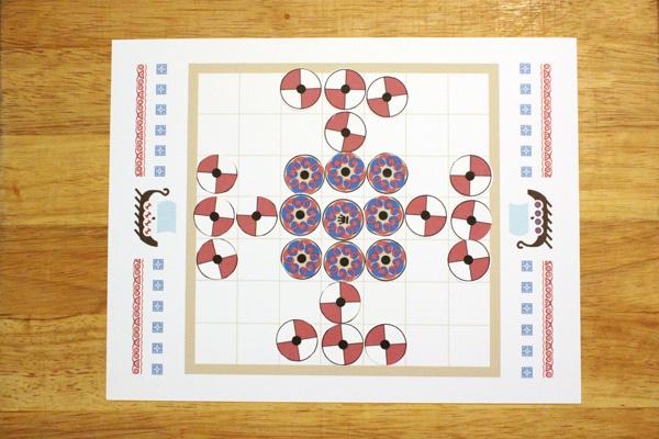 Tafl game setup