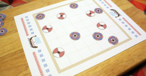 Printable tafl viking chess board game