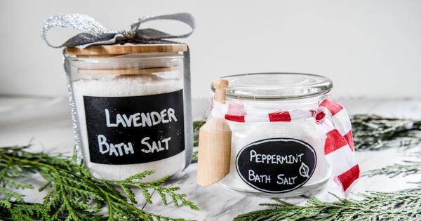 Homemade bath salts gift idea