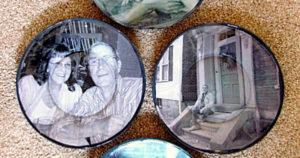 Photo plates wall art handmade gift tutorial