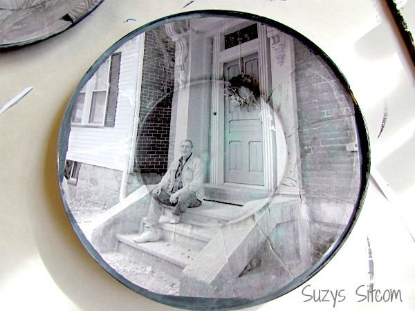 Personalized photo plates: painted rims