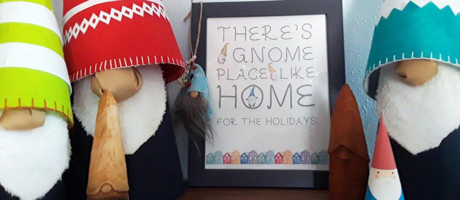 Christmas gnome printable wall art