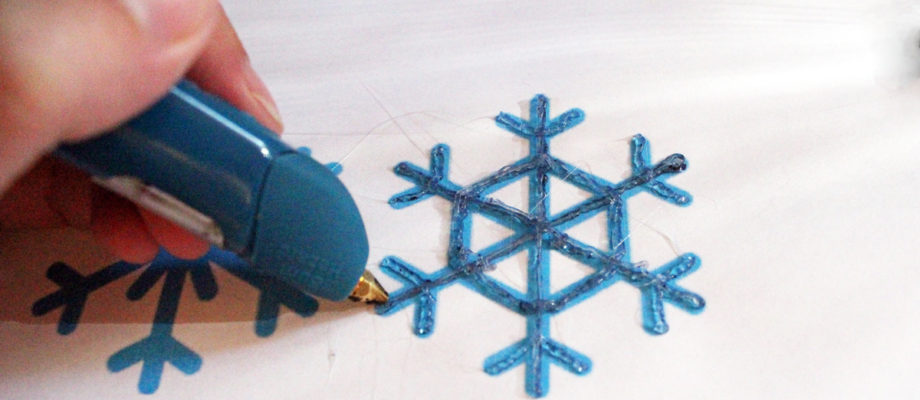 DiY snowflakes with the 3Doodler pen