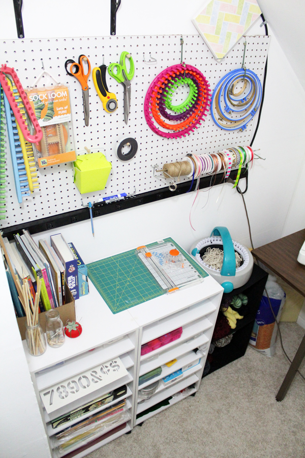 Whether you have a bonus room, a large closet, or just a small corner somewhere, having a designated space to do craft projects is fabulous. I finally got around to turning a large closet into the craft space of my dreams with this simple craft room makeover.