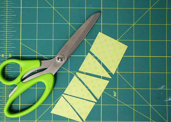 cutting paper triangles